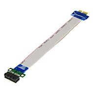 pci-e pci express 1x ila 1x yuvalı yükseltici kart genişletici adaptör dönüştürücü şerit (20cm)
