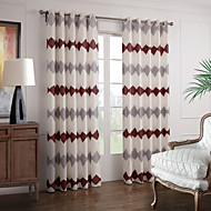 billige Gardiner-To paneler Window Treatment Moderne , Nyhet Soverom Polyester Materiale Hjem Dekor For Vindu