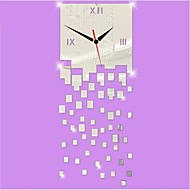 3d nowoczesny styl podłubać akryl nieregularne squaremirror nowy zegar ścienny