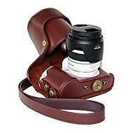 olcso -pajiatu® pu bőr olaj a bőr fényképezőgép védőtok Samsung NX300 18-55mm objektív vagy fix objektív