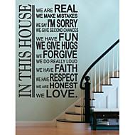 jiubai® hus regel værelse dekoration wallsticker wallstickers
