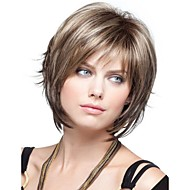 Women Synthetic Wig Short Wavy Bob Haircut With Bangs Halloween Wig Carnival Wig Costume Wig