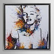 innrammet lerret kunst, sprut farge Marilyn Monroe med utstrakte ramme