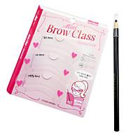 billiga Sminktillbehör-Ögonbryn Ögonbrynsstencil Smink 3 pcs Plast Öga Vardagsmakeup Kosmetisk Skötselprodukter
