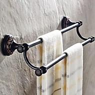 現代の古典的なシンプルなオイルは、青銅真鍮のタオルバーを擦った