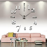 cheap Summer Sale-Modern / Contemporary Stainless Steel Round Indoor,AA Wall Clock