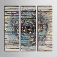 billiga Topp Konstnär-HANDMÅLAD Abstrakt Vertikal panoramautsikt Duk Hang målad oljemålning Hem-dekoration Tre paneler