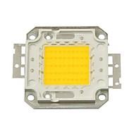 Chipe de LED 50w 4500LM 3000k branco quente (30-35v)