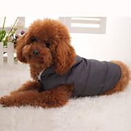 Pes Kabáty Kamizelka Oblečení pro psy Zahřívací Jednolitý Černá