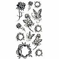 Tatuointitarrat Kukkasarjat - Paperi - Kuvio/Waterproof #(18.5*8.5) - Monivärinen - #(1) - Naisten/Girl/Aikuinen/Teini