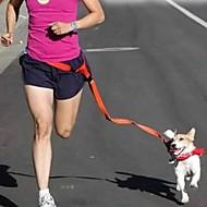 כלבים ידיים רצועה חינם חוזרמתכווננת / ריצה / ללא ידיים מוצק Red / לבן / ירוק / ורוד / סגול ניילון