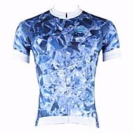 ILPALADINO 男性用 半袖 サイクリングジャージー 花 / 植物 バイク 速乾性, 抗紫外線, 高通気性