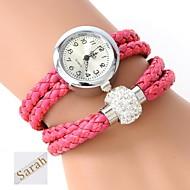 billige Personaliserte klokker-personlig gave kvinners to-lags wrap pu lær armbånd analog gravert klokke med rhinestone