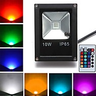 cheap Outdoor Lighting-10W 800 lm LED Floodlight 1 leds High Power LED Remote-Controlled RGB AC 85-265V