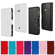のために Nokiakケース ウォレット / カードホルダー / スタンド付き ケース フルボディー ケース ソリッドカラー ハード PUレザー Nokia Nokia Lumia 625
