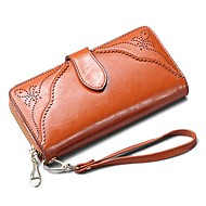 Women Bags All Seasons Cowhide Wristlet for Event/Party Casual Sports Formal Yellow Fuchsia Red Dark Pink Light Brown