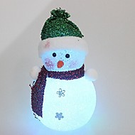 16 centímetros de cristal gelado luz bonecos de neve de natal levou