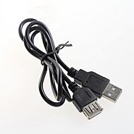 billige -USB 2.0 mandlige og kvindelige udvidelse udvidet sort datakabel