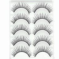 New 5 Pairs European Fiber Natural Looking Black Long False Eyelashes Eyelash Eye Lashes for Eye Extensions
