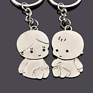 gravură personalizate de metal copil cuplu breloc
