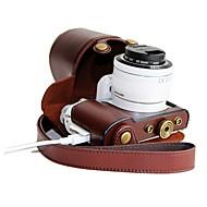 voordelige -pajiatu® pu leer opladen patroon camera beschermende case tas hoes voor Samsung NX3000 met 20-50mm lens
