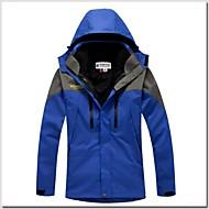 Pánské Bunda lyžařská Outdoor Voděodolný Zahřívací Větruvzdorné Odnímatelné víčko Odnímatelná fleecová Větrovky Bundy 3 v 1 Zimní bunda