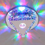 お買い得  シーリングライト&ファン-クリスタル ミニスタイル LED 埋込式 アンビエントライト 用途 リビングルーム ベッドルーム キッチン ダイニングルーム 研究室/オフィス キッズルーム エントリ ゲームルーム 廊下 ガレージ Warm White Cold White RGB 90-240V 電球付き