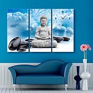 e-home® buddha og steiner klokken i canvas 3pcs