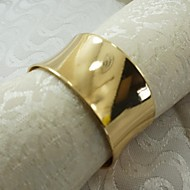 12 Pcs/Set 1.77 Inch Classic Gold Zinc Alloy Napkin Ring Tableware Table Storage