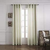 billige Gardiner-Et panel Window Treatment Moderne Ensfarget Stue Polyester Materiale gardiner gardiner Hjem Dekor