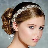 cheap Wedding Headpieces-Rhinestone Silk Headbands Headwear with Floral 1pc Wedding Special Occasion Headpiece