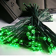cheap Outdoor Lighting-12m 100 led solar christmas lights string lamp lndoor outdoor flashing light strip - green