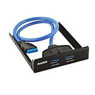 baratos Placas de Expansão-maiwo kc010 2port painel frontal USB3.0