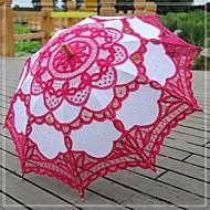 """billiga Brudparaplyer-Bröllop Strand Dagligen Maskerad Spets Bomull Paraply 26""""(ca. 66cm) Metall Trä 30.7""""(ca. 78cm)"""