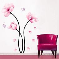 Χαμηλού Κόστους Flower Wall Stickers-Άνθη Βοτανικό Αυτοκολλητα ΤΟΙΧΟΥ Αεροπλάνα Αυτοκόλλητα Τοίχου Διακοσμητικά αυτοκόλλητα τοίχου, PVC Αρχική Διακόσμηση Wall Decal Τοίχος