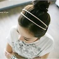 lureme® estilo korea seda bonito tricô cabeça dupla (cor aleatória)