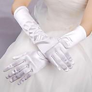 billiga Brudhandskar-elastisk satin armbågslängd handske brudhandskar klassisk feminin stil