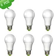 billige Globepærer med LED-980 lm E26 / E27 LED-globepærer A60(A19) 1 LED perler COB Varm hvit 100-240 V / 6 stk. / RoHs / CE