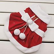 Cica Kutya Jelmezek Ruhák Karácsony Kutyaruházat Szerepjáték Karácsony Újévi Masni Piros Jelmez Háziállatok számára