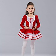cheap Dancewear & Dance Shoes-Kids' Dancewear Dresses&Skirts Tops Tutus Spandex Chiffon Tulle Velvet Long Sleeves