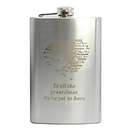 cheap Personalized Drinkware-Personalized Gift 9oz Stainless Steel Hip Flask Heart