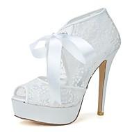 Topuklular - Düğün / Parti ve Gece - Topuklu / Burnu Açık - Siyah / Pembe / Kırmızı / Ekru / Beyaz - Kadın - Düğün Ayakkabı