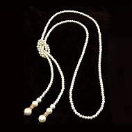 stil european de înaltă calitate imitații de perle simplu colier lung (mai multe culori)