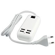 Ficha EU Carregador USB do telefone Portas Multiplas cm Tomadas 4 Portas USB 3A AC 100V-240V
