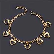 u7® kærlighed charme braclet 18k ægte guld platin forgyldt romantisk kærlighed armbånd mode smykker