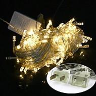 hesapli LED Işıklar-Bize su geçirmez 10m 100LED fiş sıcak beyaz ışık yılbaşı ışık dekorasyon dize ışık (110v) liderliğindeki