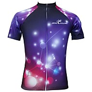 JESOCYCLING Women's Short Sleeve Cycling Jersey Bike Jersey Top Breathable Quick Dry Sports Polyester Clothing Apparel / Stretchy