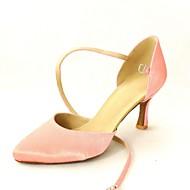 billige Kustomiserte dansesko-Dame Moderne sko / Standard sko Sateng Høye hæler Spenne Kustomisert hæl Kan spesialtilpasses Dansesko Gul / Fuksia / Lilla