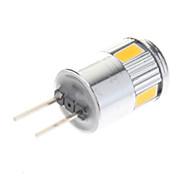 billige Spotlys med LED-G4 LED-spotpærer 6 SMD 5730 220 lm Varm hvit Kjølig hvit AC 12 V 10 stk.
