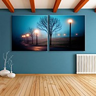 e-home® întins eșuat panza efect imprimare street art lampă LED flash intermitent set optică imprimare fibră de 2